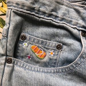 Embroidered Vintage Jeans / Capris